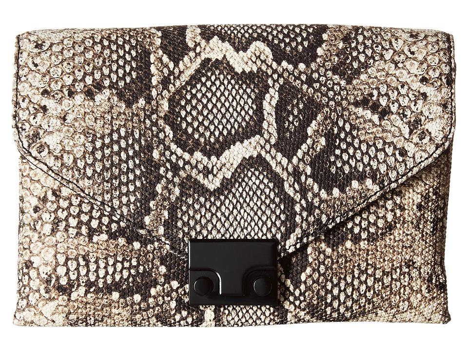 Loeffler Randall - Junior Lock Clutch (Graphite) Clutch Handbags