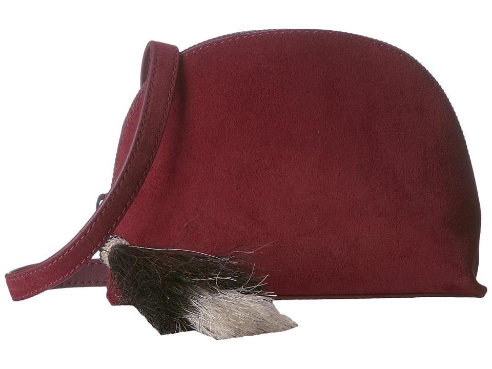 Loeffler Randall - Crossbody Pouch (Port/Black Natural) Cross Body Handbags