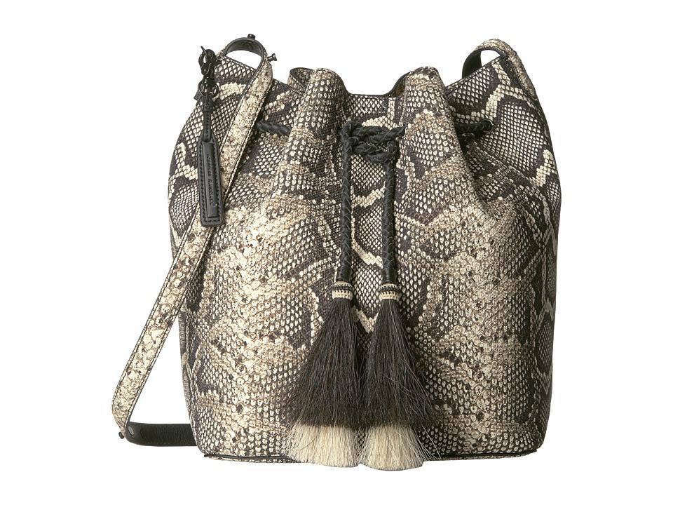 Loeffler Randall - Drawstring Hobo (Graphite/Black Natural) Hobo Handbags