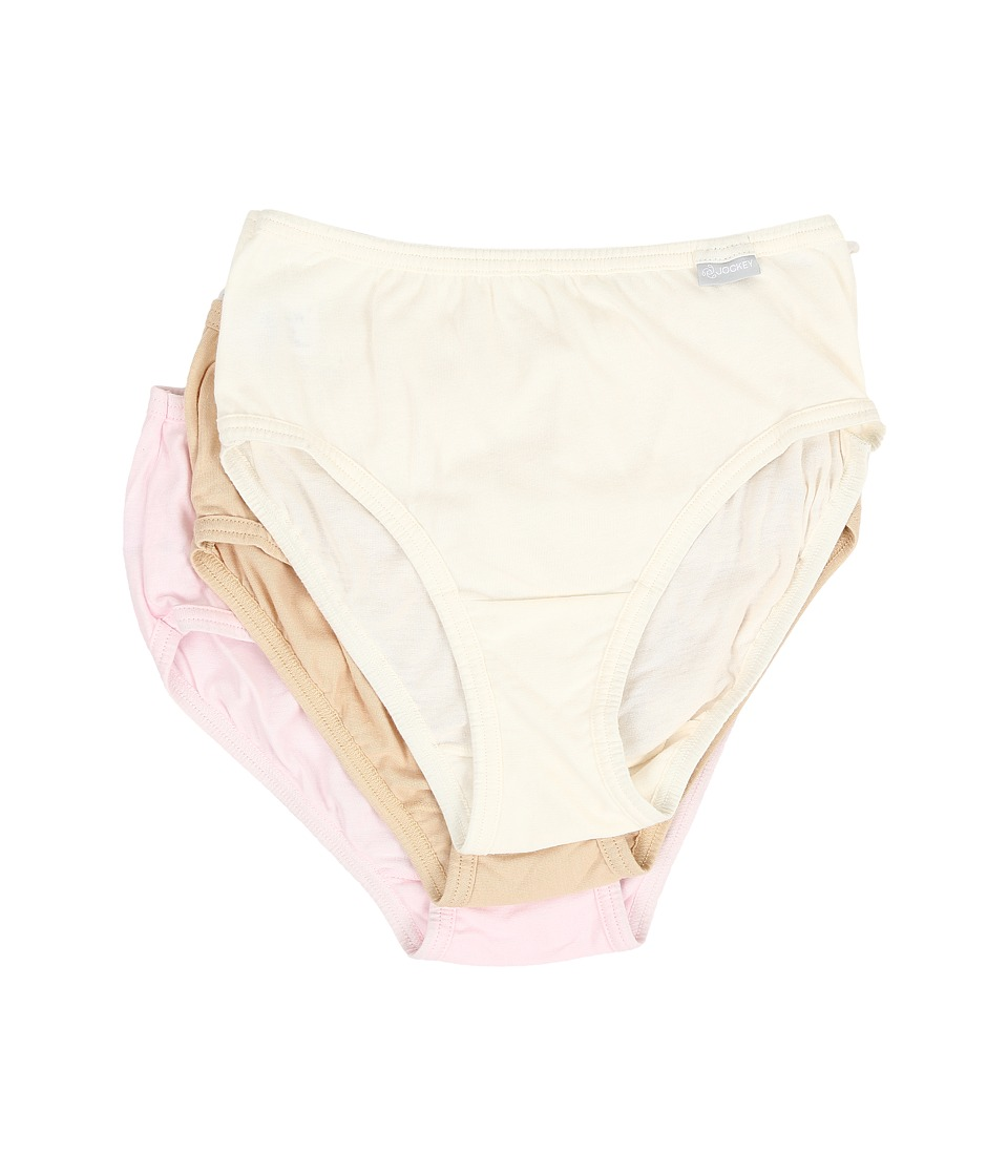 JOCKEY Elance Cotton Classic Fit Hipster (Ivory/Sand/Pink...