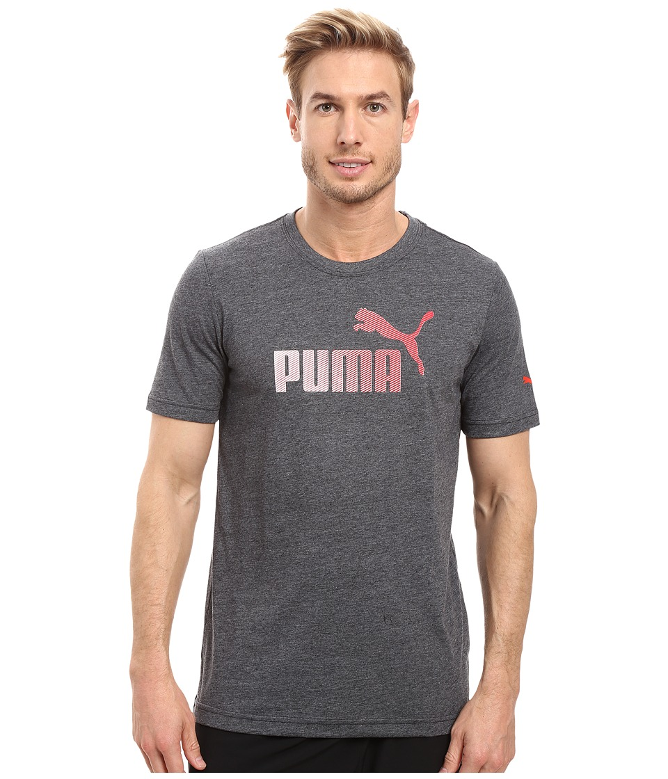 PUMA #1 Logo Graphic Tee (Dark Gray Heather) Men