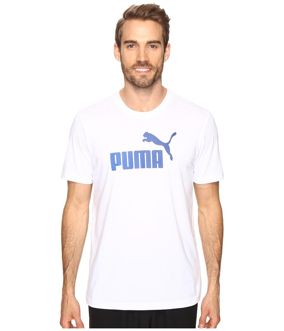 PUMA #1 Logo Graphic Tee (PUMA White) Men