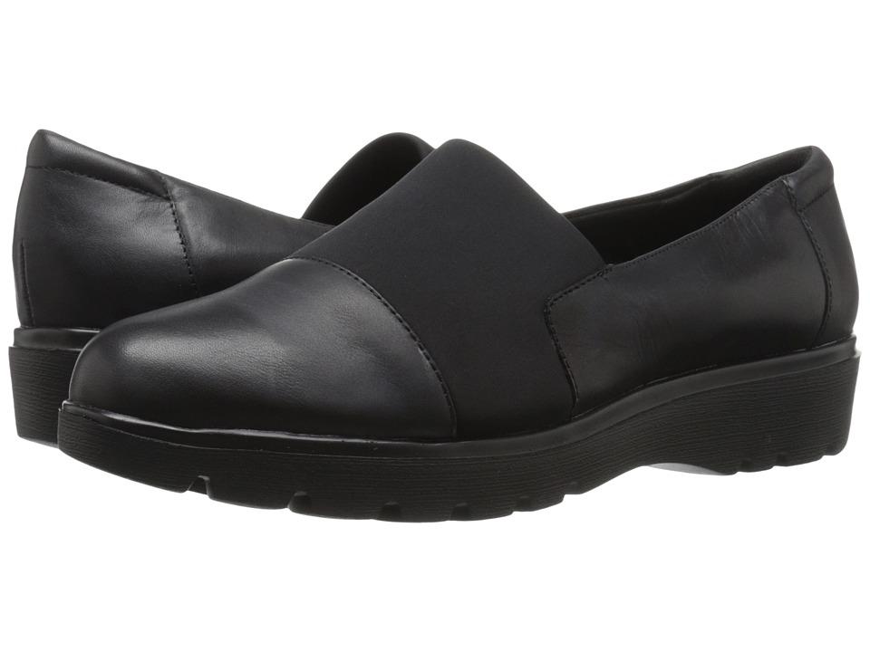 Easy Spirit - Oreen (Black/Black Leather) Women