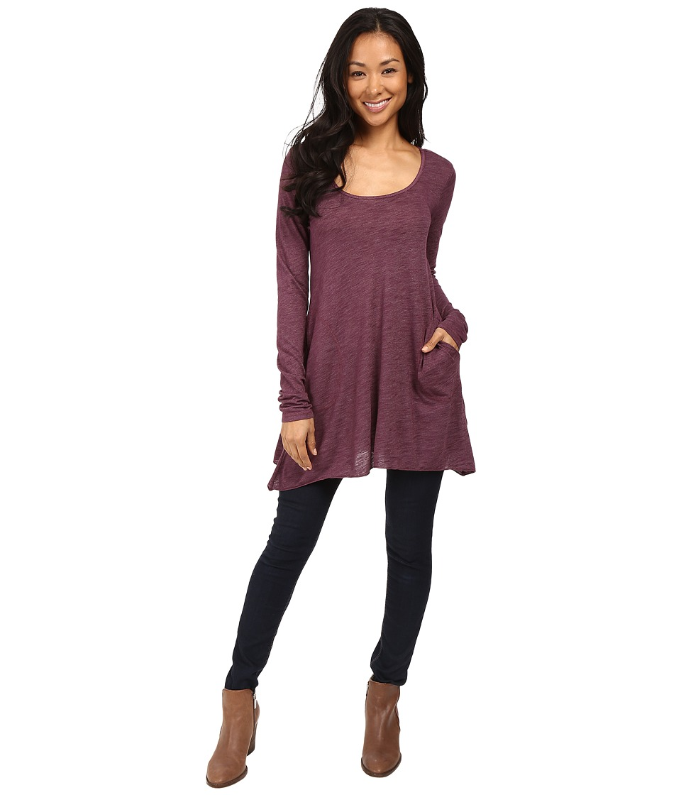 Allen Allen L/S Angled 2-Pocket Scoop Tunic (Gwine) Women