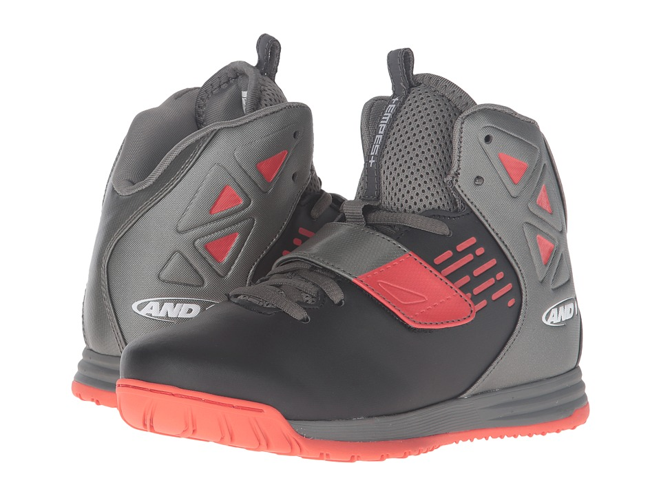 AND1 Kids Tempest (Little Kid/Big Kid) (Black/Gunmetal/Grenadine 1) Boys Shoes