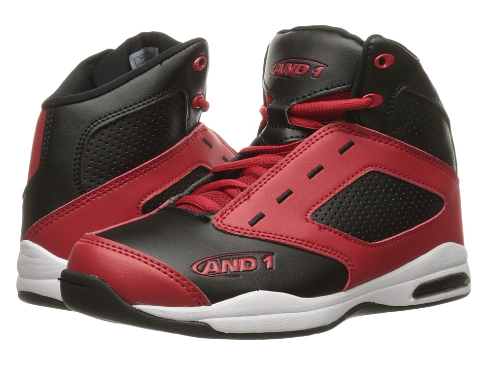 AND1 Kids Typhoon (Little Kid/Big Kid) (Black/F1 Red/White 1) Boys Shoes