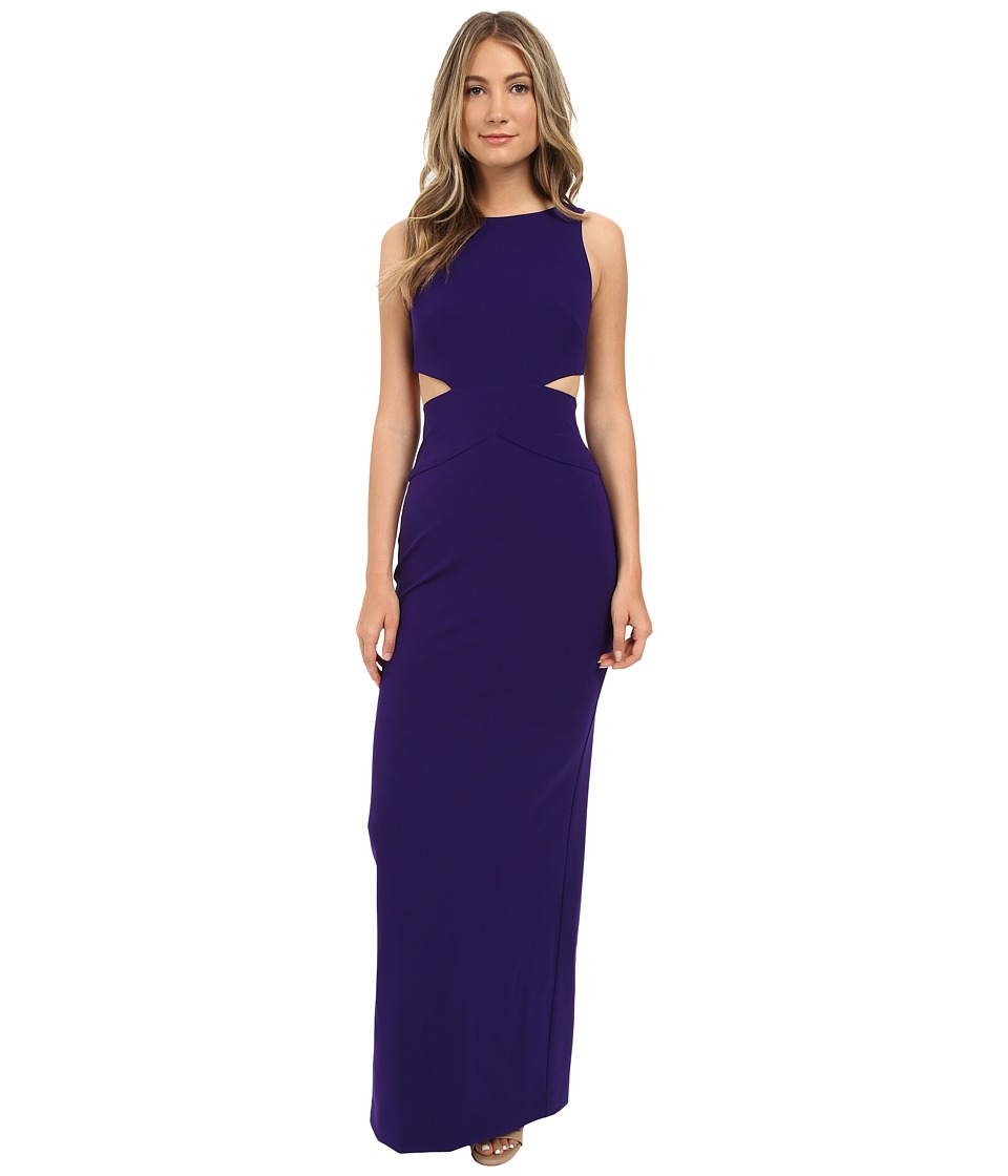 Nicole Miller Aria Cutout Gown Majestic Purple Womens Dress