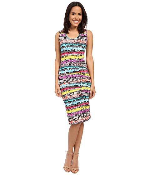 Nicole Miller Flower Chain Tidal Pleat Dress