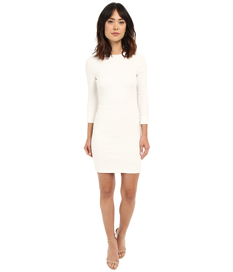 Nicole Miller Mercedes 3/4 Sleeve Cotton Metal Dress