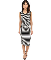 Nicole Miller - Sailor Stripe Jersey Side Tuck Basic