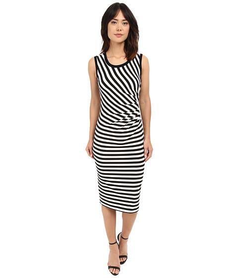Nicole Miller Sailor Stripe Jersey Side Tuck Basic