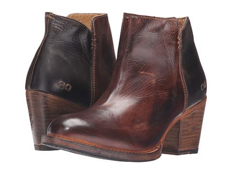 Bed Stu Yell - Teak Black Rustic Rust Leather