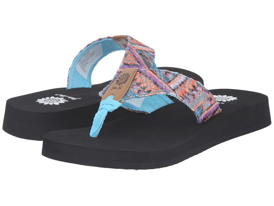 Yellow Box Hespera Coral Blue Womens Sandals