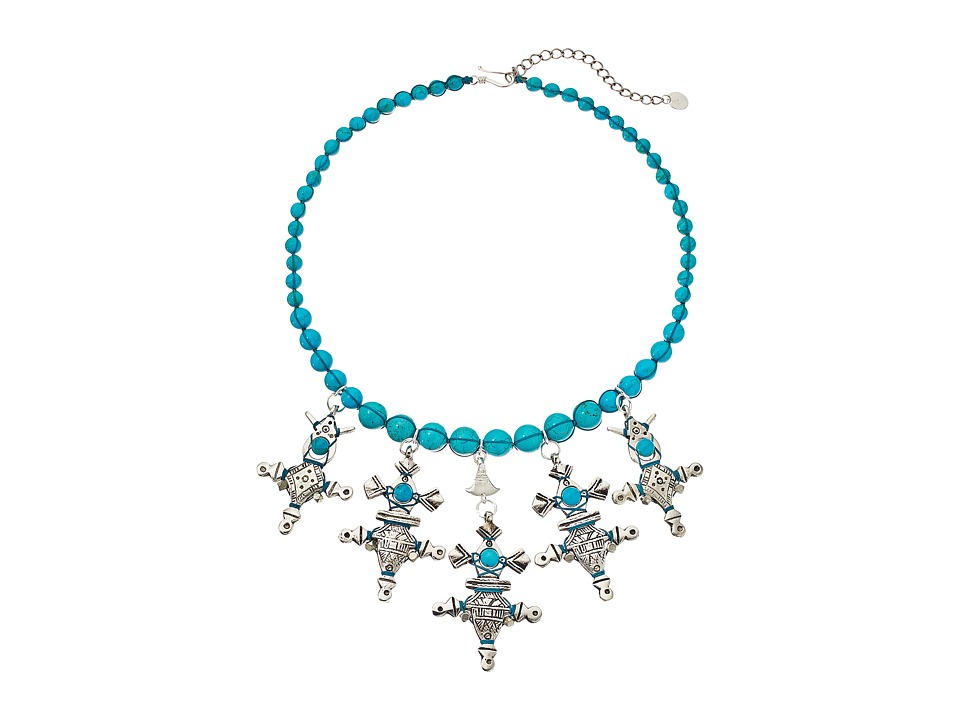 Chan Luu 17 Turquoise Short Charms Necklace Turquoise Necklace