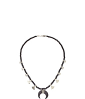Chan Luu - 17' Black Wood Mix Necklac with Horn Charm