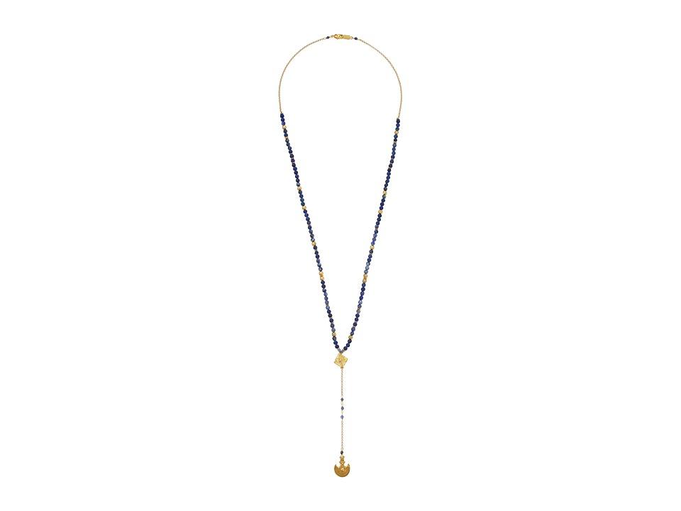Chan Luu - 30' Matte Lapis Necklace with Lariet (Matte Lapis Mix) Necklace