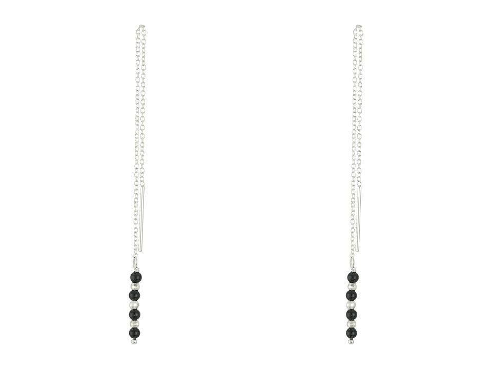 Chan Luu Sterling Silver Onyx Thread Thru Earrings Onyx Earring