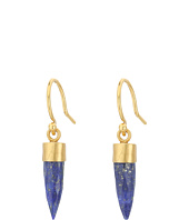 Chan Luu - Sterling Silver Drop Earrings with Lapis Semi Precious Stone Bullet