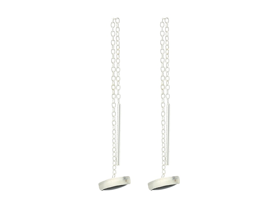 Chan Luu - Sterling Silver Thread Thru Earrings with