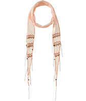 Chan Luu - Viscose Chiffon Beaded Skinny Scarf