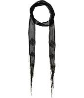 Chan Luu - Viscose Chiffon Beaded Embellishment Skinny Scarf