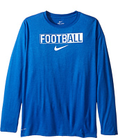 Nike Kids - Legend Long Sleeve All Football Tee (Little Kids/Big Kids)