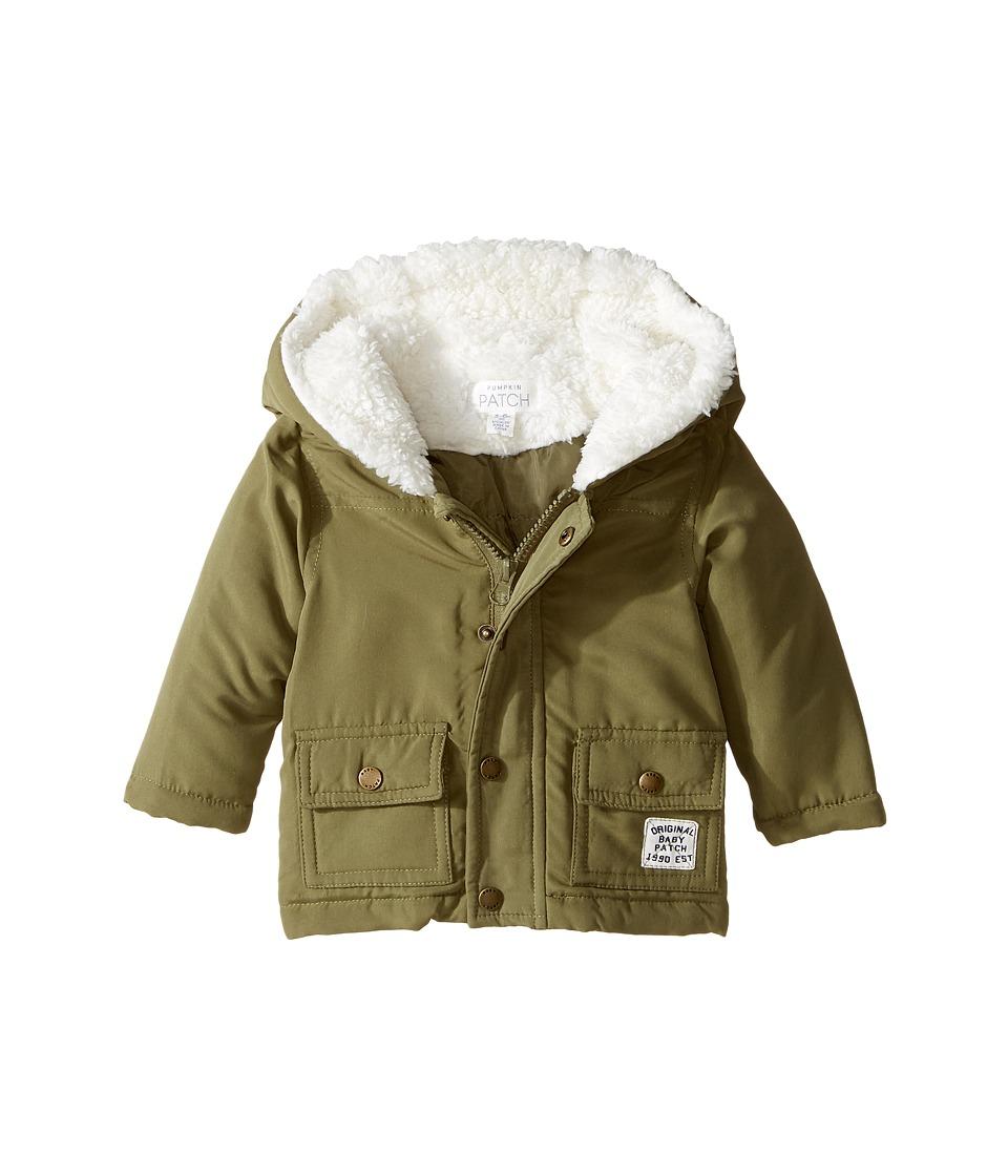 Pumpkin Patch Kids Puffer Parker Jacket (Infant) (Deep Lichen Green) Boy