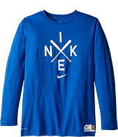 Nike Kids - Legend Long Sleeve Baseball Logo Tee (Little Kids/Big Kids)