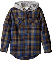 Pumpkin Patch Kids - Oversize Hooded Shirt (Little Kids/Big Kids)