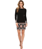 MICHAEL Michael Kors - Boat Neck Long Sleeve Border Dress
