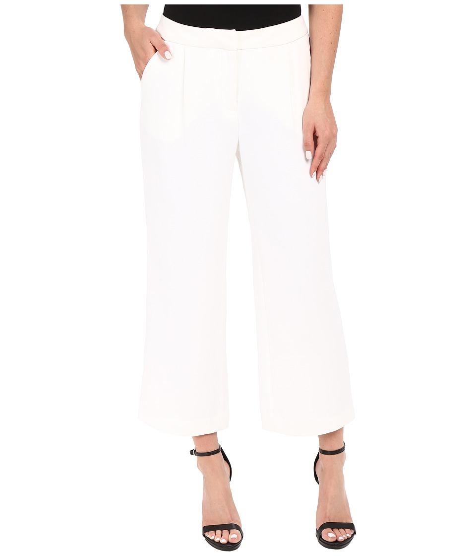 Ellen Tracy Wide Cropped Pants E White Womens Casual Pants