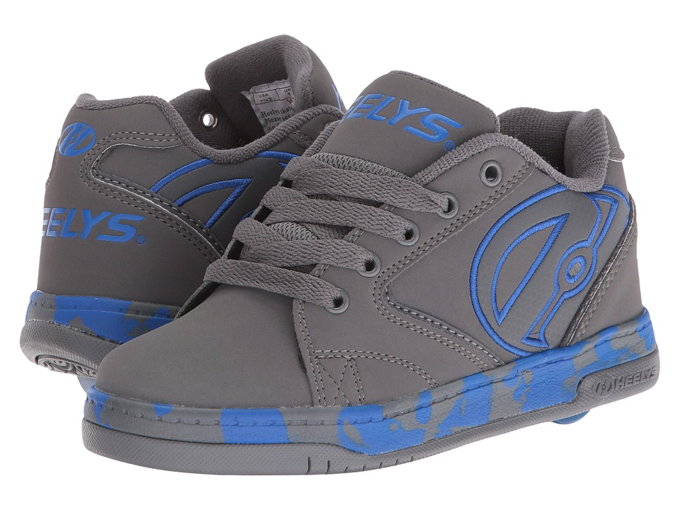 Heelys Propel 2.0 (Little Kid/Big Kid/Adult) (Grey/Royal/Confetti) Boys Shoes