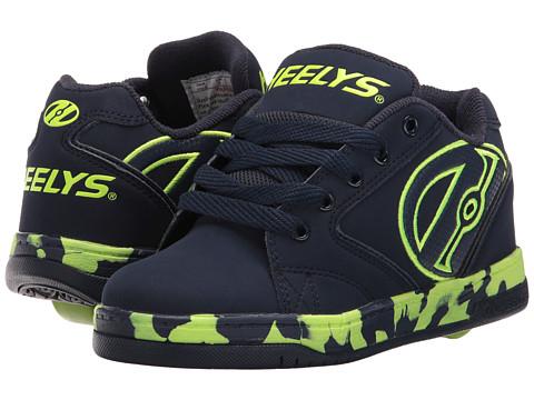 Heelys Propel 2.0 (Little Kid/Big Kid/Adult) - Navy/Lime/Confetti