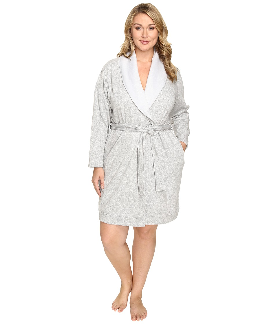 Ugg Plus Size Blanche Robe (Seal Heather) Women's Robe