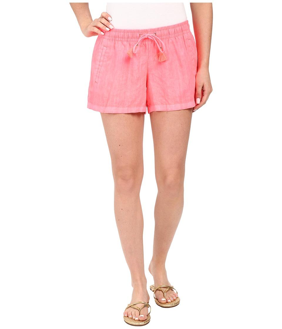 Lilly Pulitzer Beach Shorts Pink Sun Ray Womens Shorts