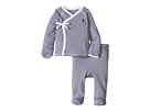 Ralph Lauren Baby Yarn-Dyed Stripe Kimono Two-Piece Pants Set (Infant)