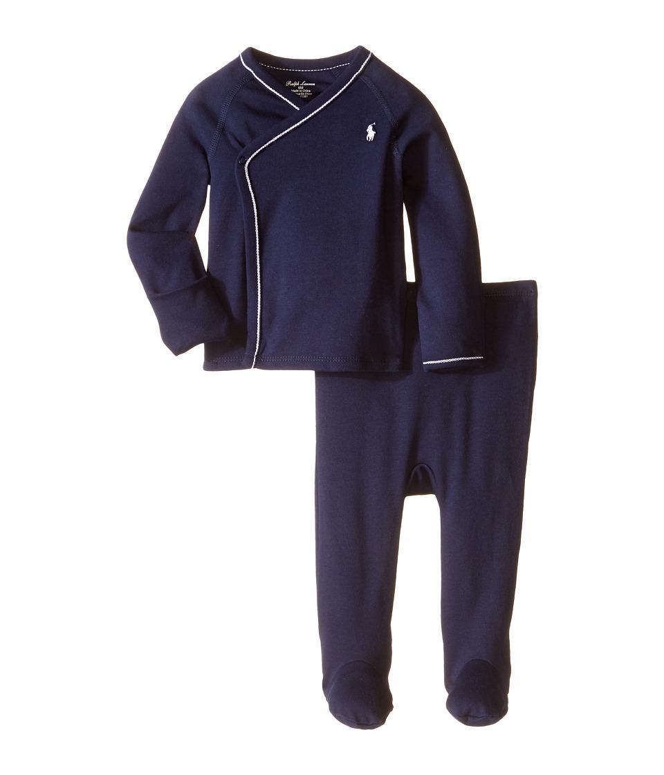 Ralph Lauren Baby - Cotton Interlock Solid Kimono Two-Piece Pants Set