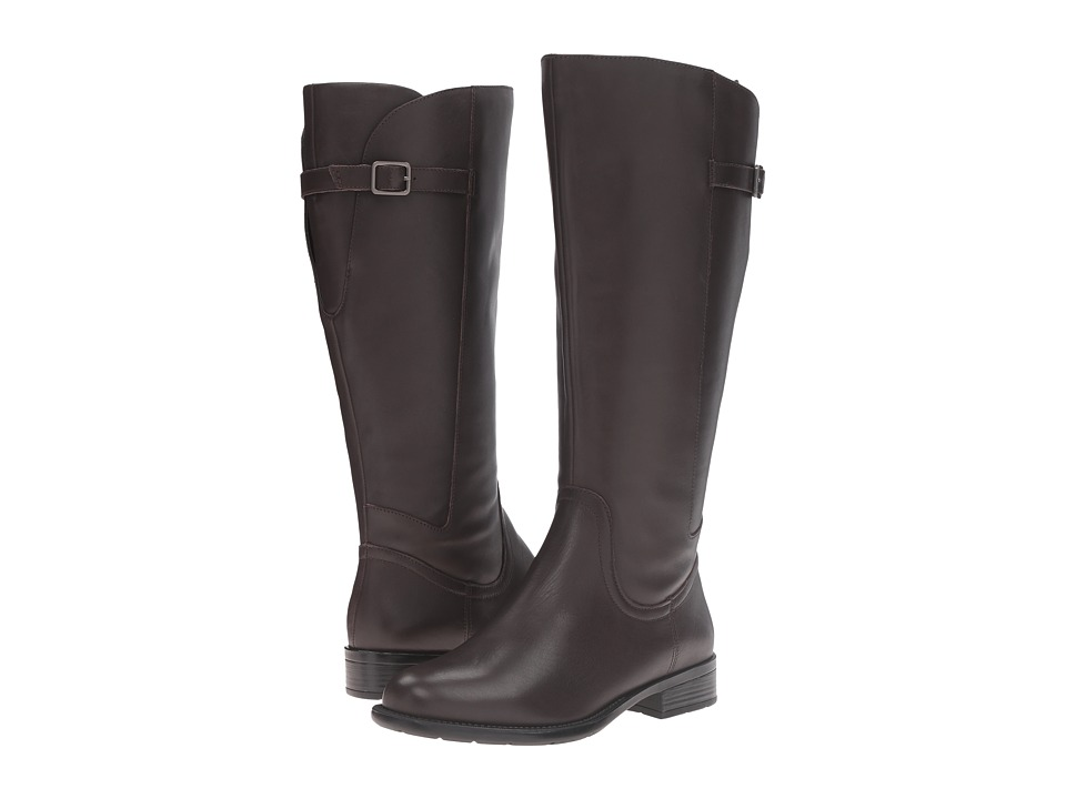 Easy Spirit JimletW (Dark Brown Wide Leather) Women
