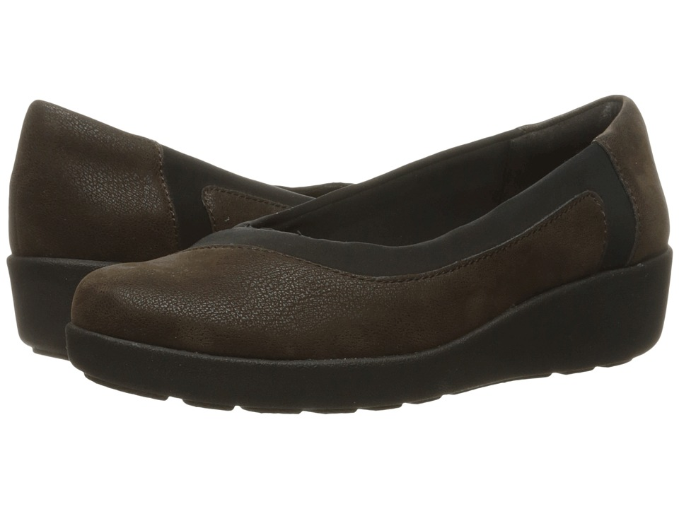 Easy Spirit - Kathleen (Brown/Black Fabric) Women
