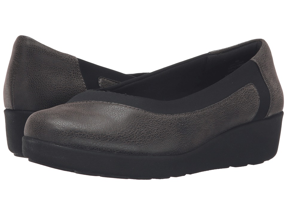 Easy Spirit - Kathleen (Grey/Black Fabric) Women