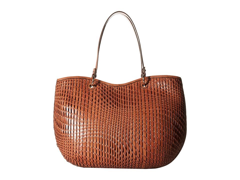 Cole Haan - Genevieve Open Weave Tote (Woodbury) Tote Handbags
