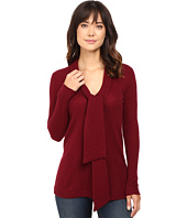 Christin Michaels - Victoria Tie Neck Cashmere Tunic