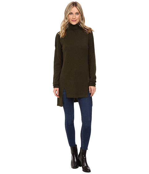Christin Michaels Madeline High-Low Turtleneck Cashmere Sweater