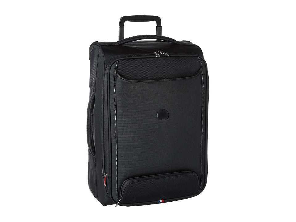 Delsey Chatillon Carry On Expandable 2 Wheel Trolley Black Luggage