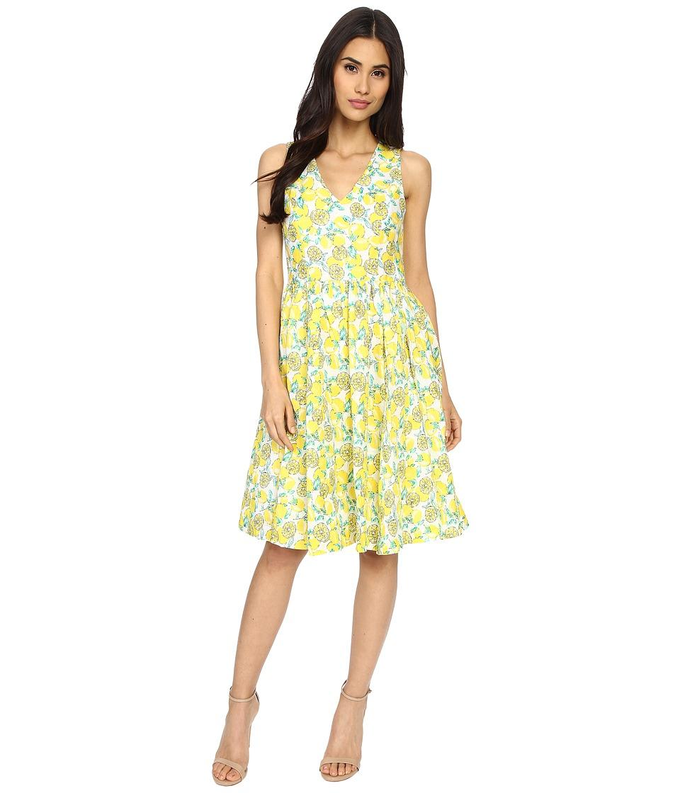 Brigitte Bailey Lucy Lemon Printed Dress Lemon Womens Dress