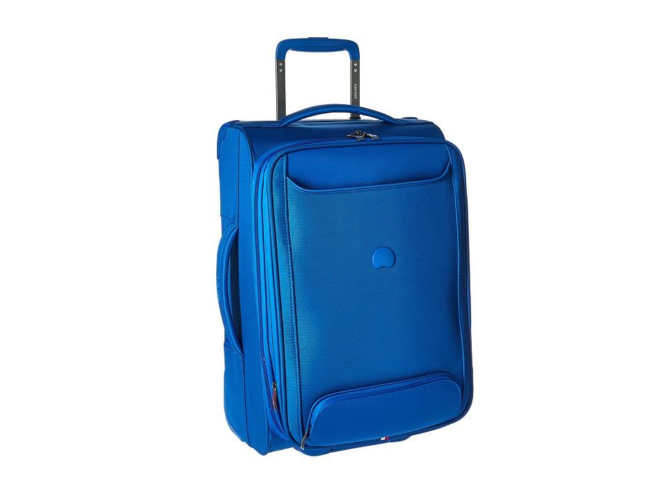 Delsey Chatillon Carry On Expandable 2 Wheel Trolley Blue Luggage
