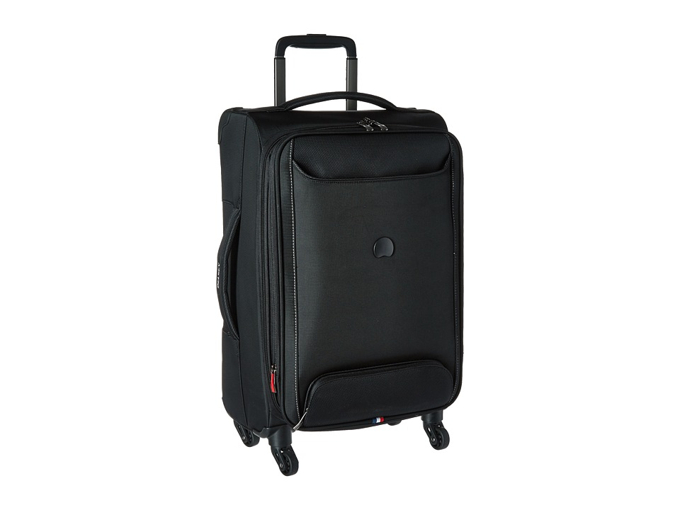 Delsey Chatillon Carry On Expandable Spinner Trolley Black Luggage