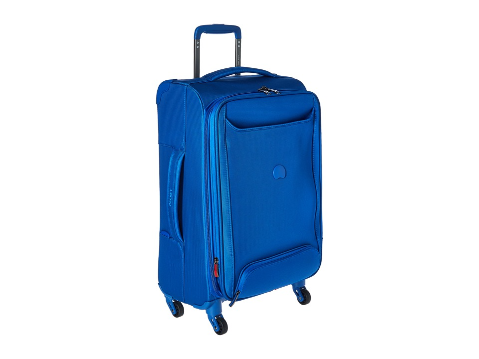 Delsey Chatillon Carry On Expandable Spinner Trolley Blue Luggage