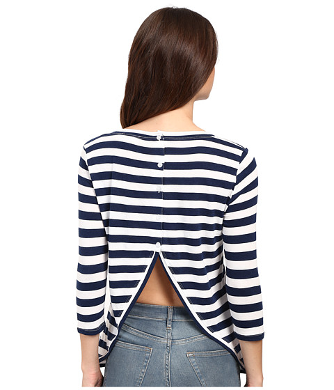 Culture Phit Beryl 3/4 Sleeve Striped Top with Open Back