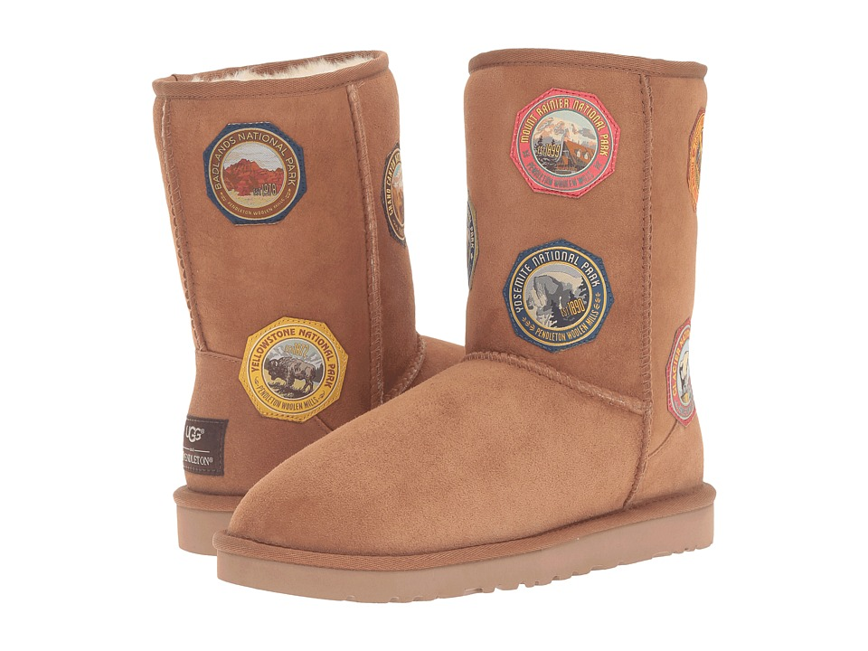 UGG - Classic Short NP Patch (Chestnut) Women